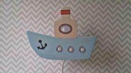 Hajó fali lámpa, világoskék