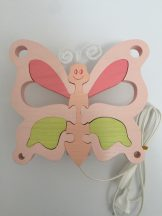 Pillangó fali lámpa, rózsa