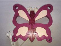 Pillangó fali lámpa, lila