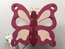 Pillangó lila  fali lámpa kis szépséghibával,