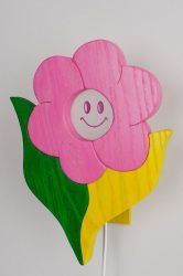 Virágos fali lámpa