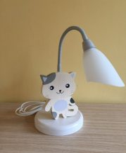 Cica asztali lámpa , fehér