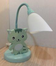 Cica asztali lámpa , zöld