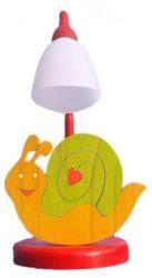 Csiga asztali lámpa
