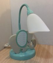 Elefánt asztali lámpa, türkiz