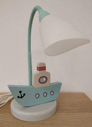 Hajó asztali lámpa, világoskék