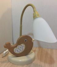 Madár asztali lámpa, barna