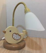 Madár asztali lámpa, bézs