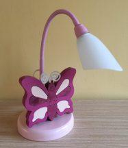 Pillangó  asztali lámpa, lila