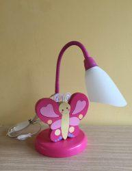 Pillangó  asztali lámpa, pink