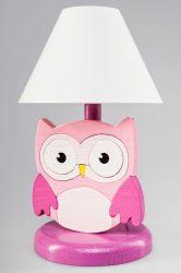 Bagoly pink éjjeli lámpa