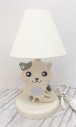 Cica éjjeli lámpa, fehér