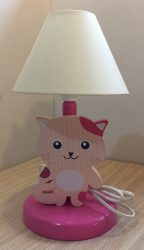 Cica éjjeli lámpa, rózsaszín