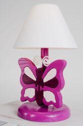 Pillangó lila éjjeli lámpa