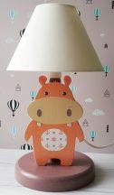 Víziló éjjeli lámpa Lazac