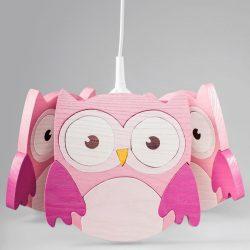 Bagoly pink csillár