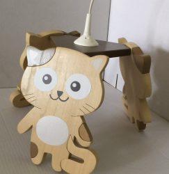 Cica,  tejeskávé csillár