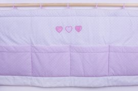 Premi rózsaszín - 3 csipkés szív Falvédő 140*70