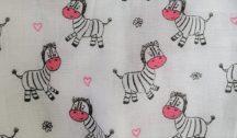 Hagyományos Tetra pelenka, mintás  1db-os kiszerelés - Pink zebra
