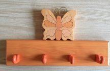 Pillangós  4 akasztós fogas, barack