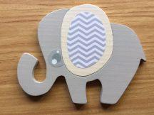 Elefánt fehér bútordísz