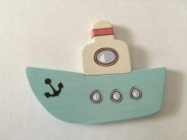 Hajó világoskék bútordísz