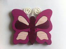 Pillangó lila  bútordísz