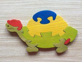Teknős kék bútordísz