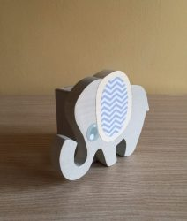 Elefánt ceruzatartó, fehér