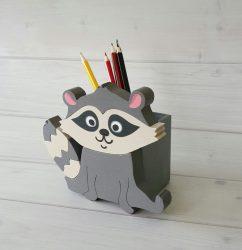 Mosómedve ceruzatartó
