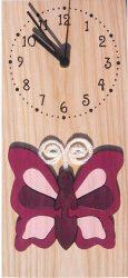 Pillangós óra, lila