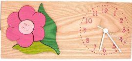 Virágos  óra, pink