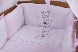 3 részes babaágynemű szett Premi rózsaszín - Bori bárány