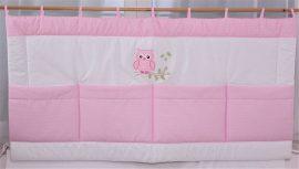 Rózsaszín pöttyös - Lulu bagoly Falvédő 140*70
