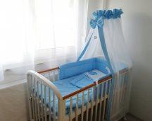 4 részes babaágynemű szett Harmónia-Premi - kék Peti