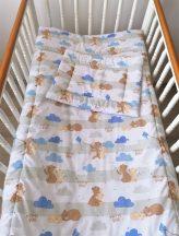 2 részes babaágynemű szett Mackótestvér - kék