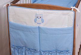 Zsebes tároló - Lulu bagoly - kék pöttyös