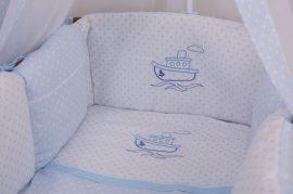 3 részes babaágynemű szett Premi kék - hajó