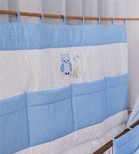 Falvédő - Lulu bagoly- kék pöttyös