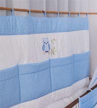 Kék pöttyös - Lulu bagoly Falvédő 140*70