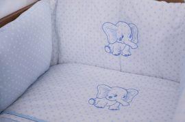 4 részes babaágynemű szett Premi kék-elefánt