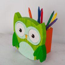 Bagoly zöld ceruzatartó