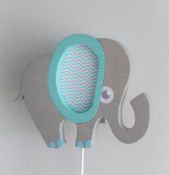 Elefánt fali lámpák kis szépséghibával, különböző színekben