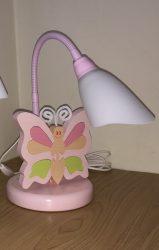 Pillangó  asztali lámpa, rózsaszín