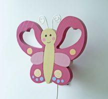 Pillangó fali lámpa, pink