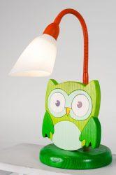 Bagoly zöld asztali lámpa