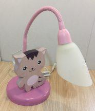 Cica asztali lámpa , lila