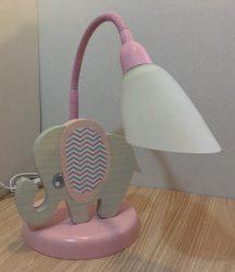 Elefánt asztali lámpa, rózsa