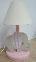Elefánt éjjeli lámpa, rózsa