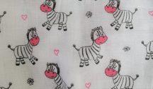 Hagyományos Tetra pelenka, mintás  3 db-os kiszerelés - Pink zebra